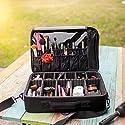 New BEST Professional Makeup Case ON SALE! Prime Makeup Artist Cosmetic Train Case Cosmetic Organizer Big Makeup Bag - Makeup Organizer & Makeup Brush Holder Bag/ Designer Makeup Case