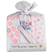 Little Beginnings 3 Pack Hooded Towel, Floral and Owl Designs