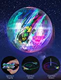 Aubllo Toy Cars Mini High Speed Vehicles with Keychain LED Light up Glow Toys in Ball Spinner for...