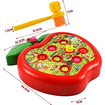 Amazon.com : Electric Whack A Mole Teclado Musical Toys Children Basic Skills Development Educational Toy Hammer Puzzle Game Toy Whack A Mole : Baby