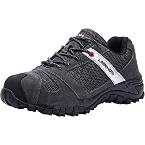 LARNMERN Work Shoes for Men, LM-18 Men's Steel Toe Safety Shoes Breathable Comfortable Footwear Slip Resistant
