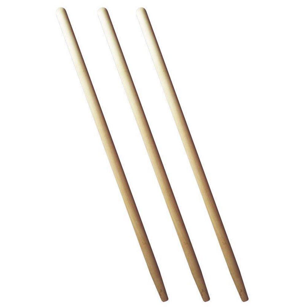 3 x Spatenstiel Grabegabel Spatengabel Stiel Holzstiel 100cm Set Ø 38 agrohit