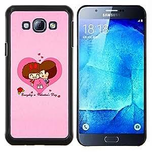 Cubierta protectora del caso de Shell Plástico || Samsung Galaxy A8 ( A8000 ) || Feliz San Valentín @XPTECH