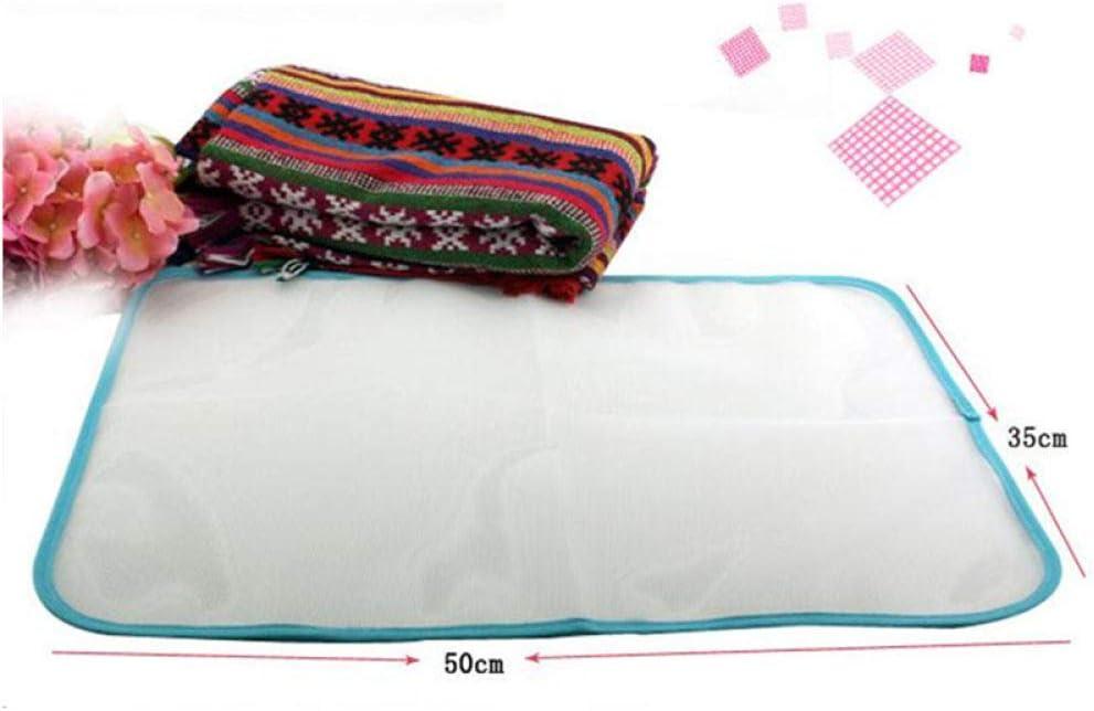 YOUZHA Anti-calor en el hogar utilizando plancha de tela cubierta de prensa de malla almohadilla de planchado protectora tablas de planchar cómodas de alta calidad, blanco