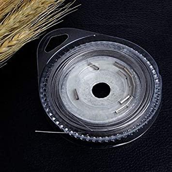 Silver YunZyun 10m 10-Strands Stainless Steel Wire Lures Leader Trace Fishing Lines 20Lbs Fishing Tackle Wire Reel 10m Front with Copper Tubes