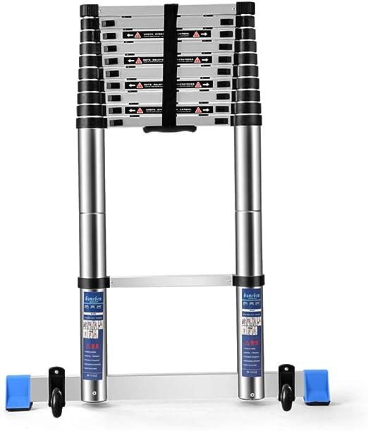 ZR- Escalera Telescópica, Escalera Recta Plegable Un Lado, Escaleras Aluminio Para El Hogar, Escalera Elevación Ingeniería Portátil -Fácil de almacenar y fácil de llevar: Amazon.es: Hogar
