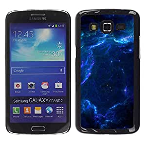 Smartphone Rígido Protección única Imagen Carcasa Funda Tapa Skin Case Para Samsung Galaxy Grand 2 SM-G7102 SM-G7105 Blue Glas Cloud Galaxy Stars Planets Universe / STRONG