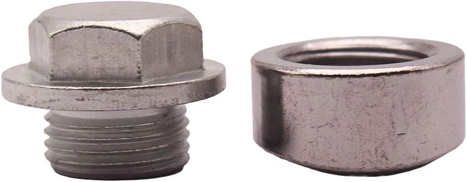Almencla /Écrou /à Bouchon d/Échappement de Sonde dOxyg/ène de Filetage O2 en Acier Inoxydable 304 de M18x1.5mm