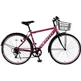 トップワン(TOP ONE) 26インチシティクロスバイク シマノ製6段ギア ピンク T-MCA266-43-PI ブラック・ピンク・ホワイト