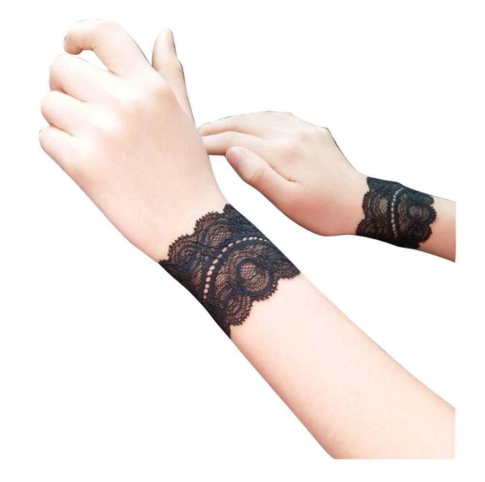 03 d/ünn atmungsaktiv Yoga//Ellenbogenschutz, Black Temptation 1 Paar Spitzen Armschienen//Handgelenkschutz