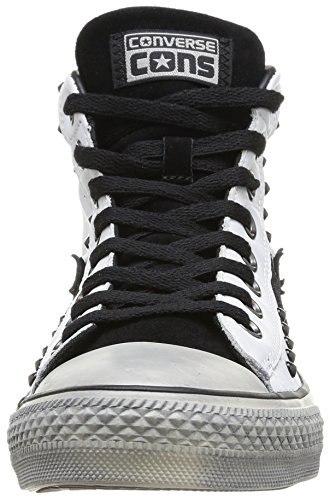 Converse Star Player EV MID Leat Sue St, Sneaker, Unisex - adulto White/Black