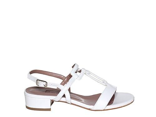 ALBANO Scarpe Sandalo Donna Donna Sandalo 4048 Soft Metal Bianco Argento PE18   547b81