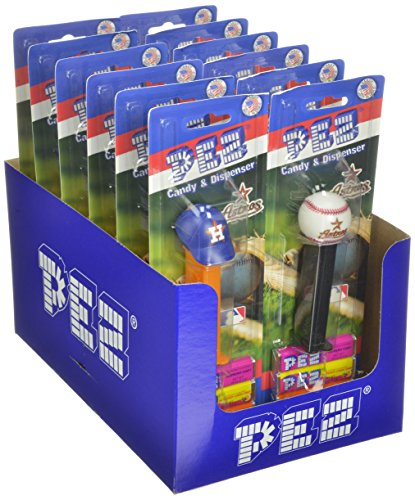 - PEZ MLB Candy Dispensers, Houston Astros, 0.87 Ounce (Pack of 12)