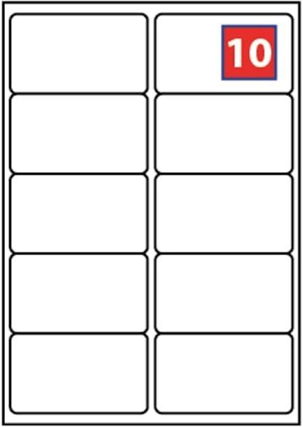100 Fogli 1000 Etichette Totali Nuove Etichette Adesive Staccabili Premium Easy Peel Di EJRange 10 Etichette Per Foglio A4