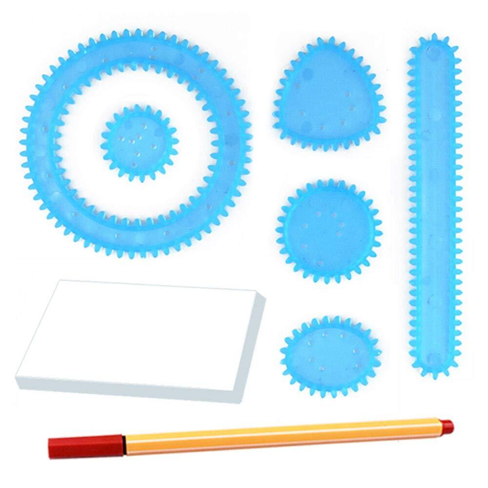 Bambini Art Painting Template Righello Magic Spiral Fiore Scala Set Disegno Mouldboard cancelleria per Bambini da