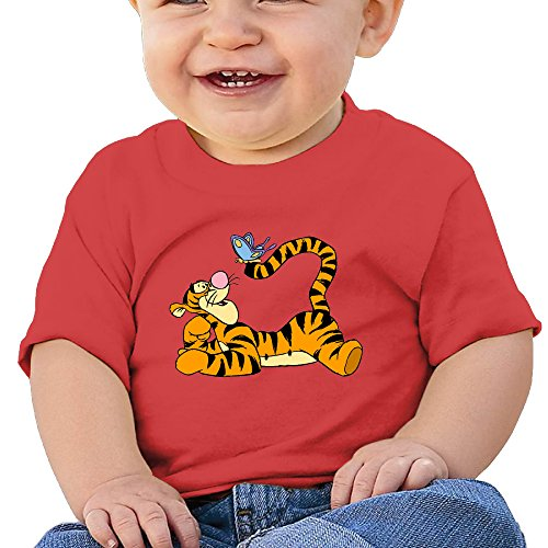 Price comparison product image NUBIA Newborn Baby Tigger Butterfly Short-Sleeve Tee Red 6 M