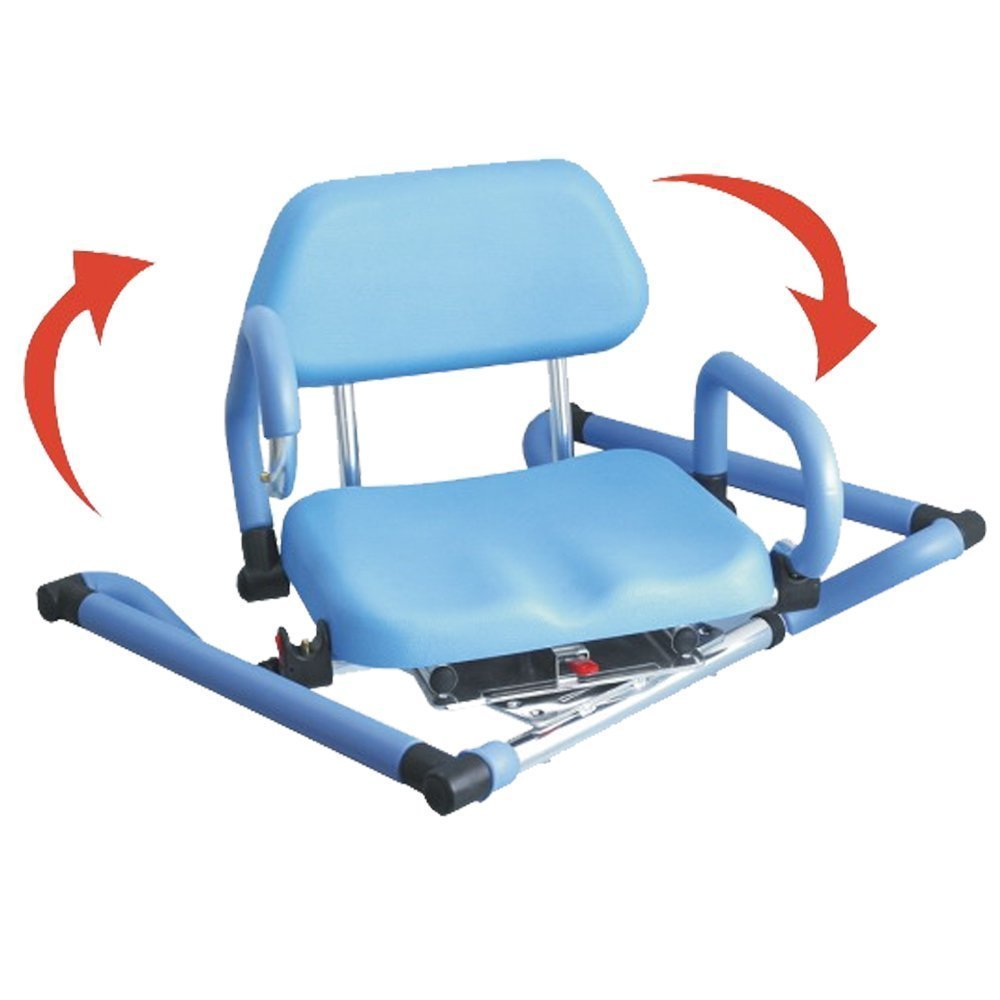 Amazon.com: Platinum Health Bath and Shower Chair with Padded Swivel ...