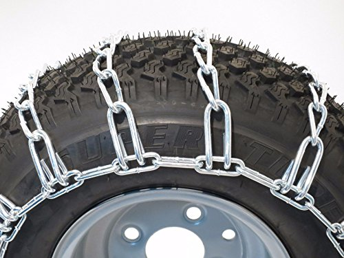The ROP Shop Pair 2 Link TIRE Chains 20×8.00×8 for MTD/Cub Cadet Lawn Mower Tractor Rider