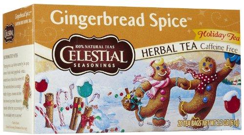 (Celestial Seasonings Gingerbread Spice Herbal Holiday Tea Bags - 20 ct - 6 pk)