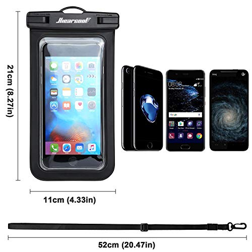 Universal Waterproof Case - Ansot IPX8 Waterproof Phone Pouch - Cellphone Dry Bag for iPhone X/8/ 8plus/7/7plus/6s/6/6s Plus Samsung Galaxy s8/s7 Google Pixel 2 HTC LG Sony Moto up to 7.0'' - 2 Pack by Hiearcool (Image #2)