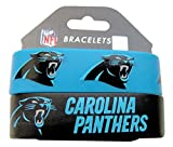 NFL Carolina Panthers Silicone Rubber Bracelet, 2-pack