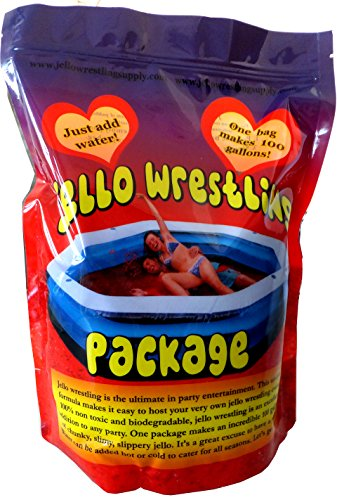 Bulk Green Jello Wrestling Supply Jello - Makes 100 Gal. Easy Set Jelly. No Refrigeration or Boiling Water Required (GREEN).