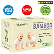 Best Bamboo Diapers   Eco-Friendly Hypoallergenic   Silky Soft w/Wetness Indicator Wicks Away Moisture to Keep Your Baby Dry & Happy   Premium High Quality   Size 3-4   15-28lb for Sensitive Skin 28ct