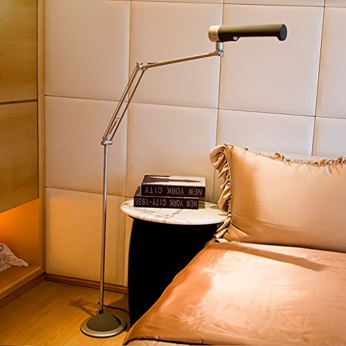 Floor Lamp Fluorescent 13W Eye Reading Piano Light, Modern Simple Bedroom Table Lamp Bedside Lamp Vertical, Light Comfortable Nature, Care Eye (Color : ()
