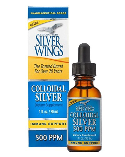 Natural Path Silver Wings Colloidal Silver Mineral Supplement, 500 Ppm, 1 Fluid Ounce