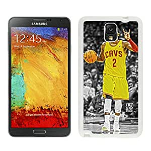 Unique Custom Designed Cover Case For Samsung Galaxy Note 3 N900A N900V N900P N900T With Cleveland Cavaliers kyrie Irving 2 White Phone Case