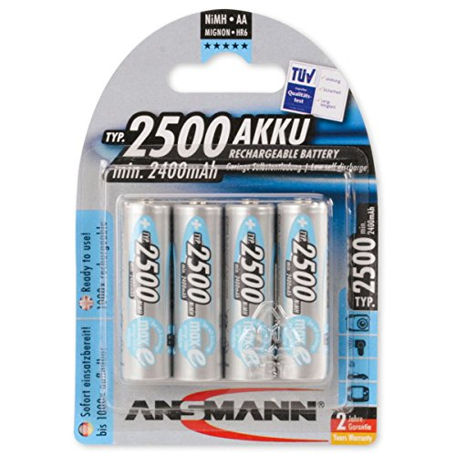 ANSMANN maxE Rechargeable AA Batteries 2500mAh Low Self Discharge