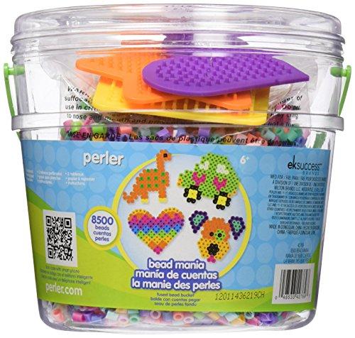 Perler Beads Fuse Bead Activity Bucket: Bead Mania, 8500 Pcs, 1 Pack