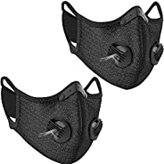 2pcs Outdoor Face Bandanas Reusable Activated Carbon for Bicycle Cycling Sports Women and Men