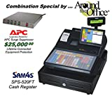 SPS-520FT SAM4s Flat Keyboard Cash Register with Color Touch Screen / APC Surge Protector / Heavy Drawer / Customer Display / Multi Drawer Option / 4 Comm Ports / Combo Package by Around The Office