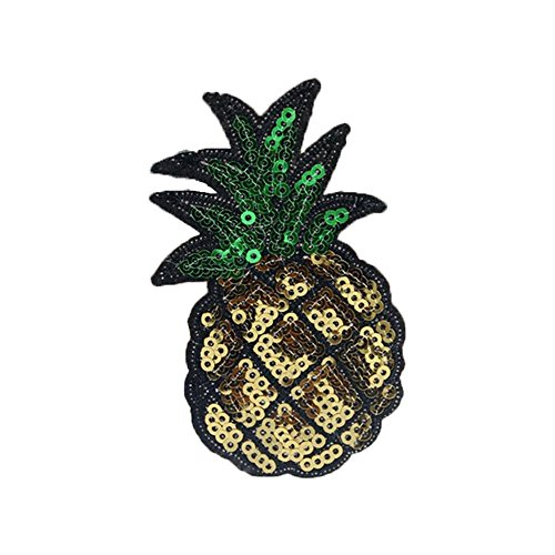 Sew On Patch for Clothes Applique Craft DIY Accessories,Pineapple by Crqes ()