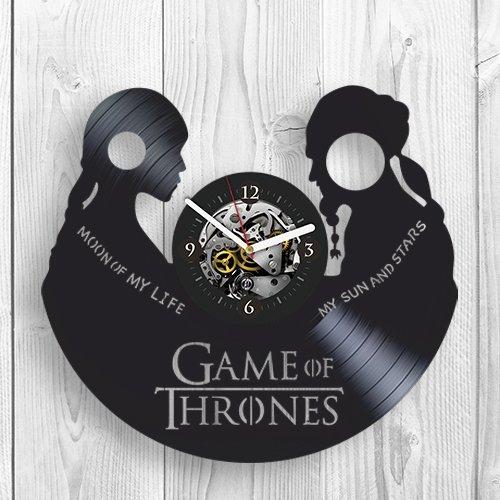 Game of Thrones, Jon Snow, Targaryen, Season 7, Online Game, Room Decor, Vinyl wall Clock, Home Decor, Unique Design, Vinyl Record, Best Gift for Fans, Woman, Wife, Girlfriend, Pop Modern Wall Art