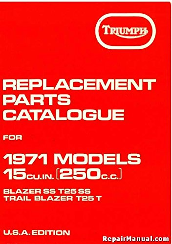 TRP1971 Triumph Replacement Parts for 1971 250cc Motorcycles