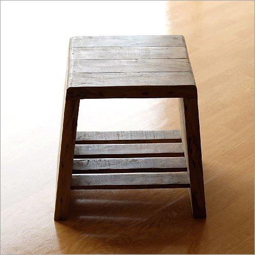 家具 スツール 椅子 木製 シャビーシックなデコスツール [ras5093] B072273X5M