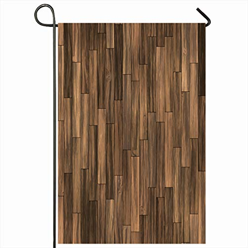 (Ahawoso Outdoor Garden Flag 12x18 Inches Dark Structure Flooring Brown Laminate Parquet Seamlessly Design Abstract Walnut Board Covering Seasonal Double Sides Home Decorative House Yard Sign)
