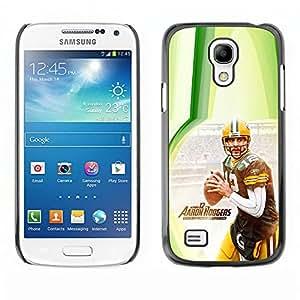 CASECO - Samsung Galaxy S4 Mini i9190 - Aaron Rodger 12 NFL - Delgado Negro Plástico caso cubierta Shell Armor Funda Case Cover - Aaron Rodger 12 NFL