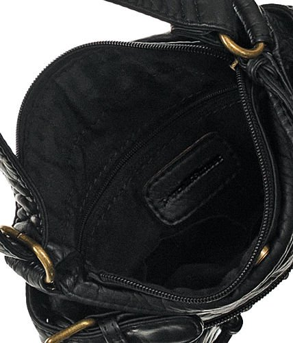 Mini Cargo Black Distressed Crossbody Swingpouch Bag
