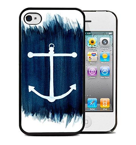 Coque silicone BUMPER souple IPHONE 5/5s - Ancre marine anchor motif 6 DESIGN case+ Film de protection OFFERT