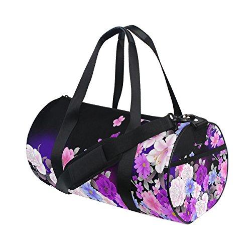 jstel retor flor bolsa de deporte gimnasio para hombres y mujeres bolsa de viaje de viaje: Amazon.es: Deportes y aire libre