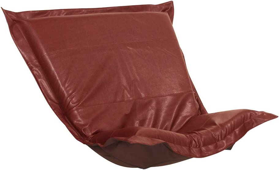 Howard Elliott Replacement Slipcover Exclusively Made for Howard Elliott Puff Chair Cushion, 100% Polyurethane Fabric (Cushion Not Included), Avanti Apple