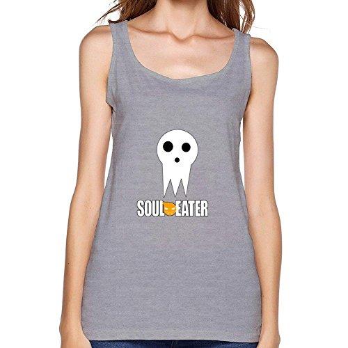 Yhdjk Women's Soul Eater Death Vest Light Grey S