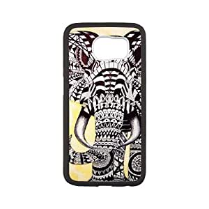 Samsung Galaxy S6 Cell Phone Case White Elephant Pattern N3M1LB