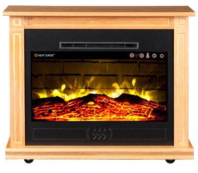 Heat Surge Roll N Glow Ev 5 Electric Fireplace In Golden Oak