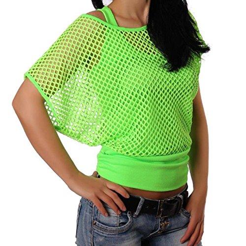 Adiyaro - Camiseta sin mangas - para mujer verde neón