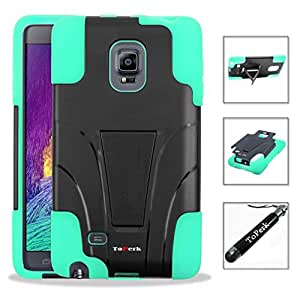 [ Samsung Galaxy Note Edge / N915 ] T-Stand Dual Layer Armor Case With Kick Stand & Stylus Pen As Bundle Sale - Teal