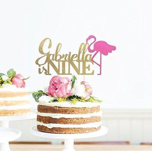 Personalized-Flamingo-Cake-Topper-Birthday-Flamingo-Cake-Topper-Flamingo-Cake-Topper-Flamingo-Party-Decor-Tropical-Party-Luau-Birthday
